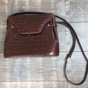 Vintage Bally embossed leather bag